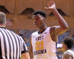 WVU's Wes Harris Charged With Battery