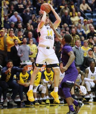 West Virginia guard Chase Harler hits a critical overtime 3-pointer TCU