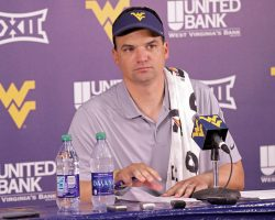 Brown Says Many WVU Positions Open To Competition This Week