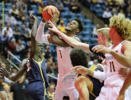 West Virginia forward Derek Culver attracts a great deal of attention in the lane