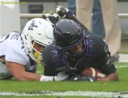 This first-quarter West Virginia throw was ruled an interception