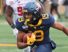 West Virginia receiver Ali Jennings makes a move after a reception