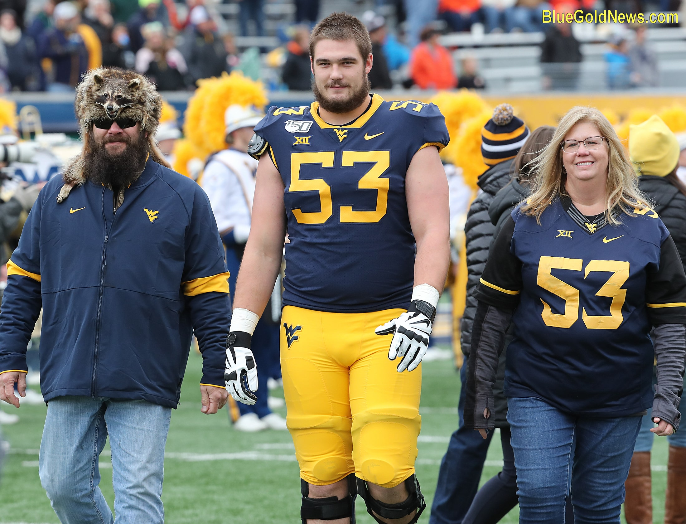 West Virginia seior Colton McKivitz and parents