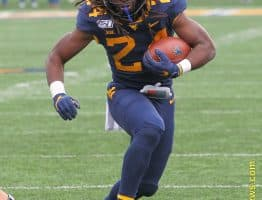 West Virginia running back Tony Mathis saw his first collegiate action against Texas Tech
